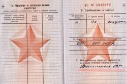 Коды вус в военном билете расшифровка